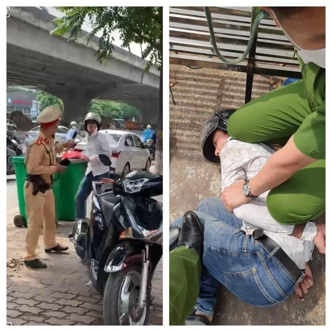 Bắt giam đối tượng tấn công Cảnh sát giao thông ảnh 1