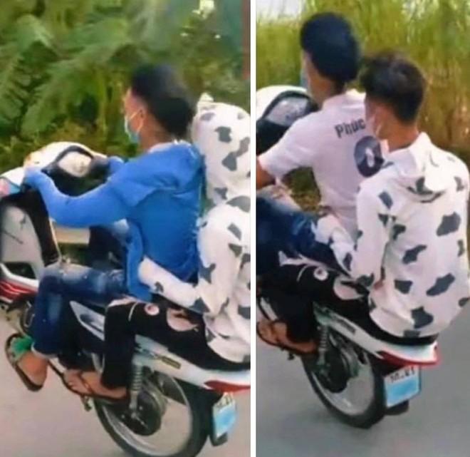 'Bốc đầu' xe máy, 6 thanh niên bị phạt hơn 11 triệu đồng ảnh 1