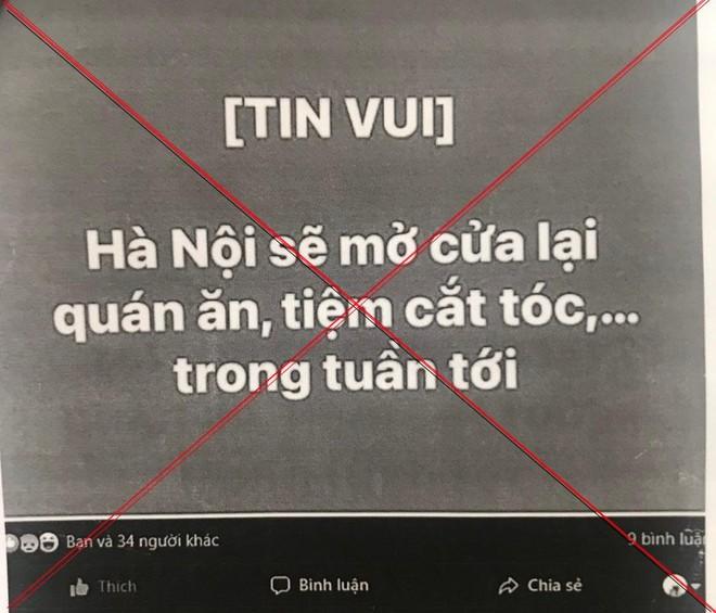 """Đăng tin """"Hà Nội mở cửa hàng quán, tiệm cắt tóc..."""", một người phụ nữ bị phạt 7,5 triệu đồng ảnh 1"""