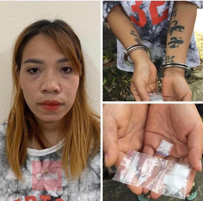 Hình xăm lạ trên cánh tay người phụ nữ 'găm' ma túy ảnh 1