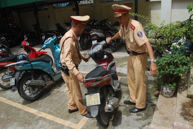 Xe Airblade đăng ký ở Hà Nội mang BKS giả tại Hưng Yên ảnh 1