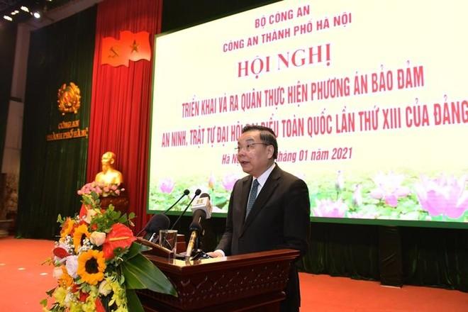Công an Hà Nội ra quân bảo vệ tuyệt đối an toàn Đại hội Đảng lần thứ XIII ảnh 2