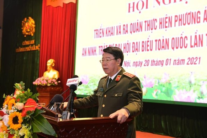 Công an Hà Nội ra quân bảo vệ tuyệt đối an toàn Đại hội Đảng lần thứ XIII ảnh 3