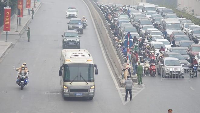 Phân luồng giao thông và các hướng đi để phục vụ Đại hội Đảng ảnh 1