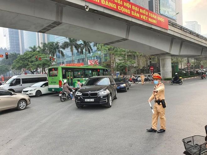 Cảnh sát giao thông Thủ đô tổng duyệt phương án đón, dẫn, đảm bảo an toàn giao thông phục vụ Đại hội Đảng ảnh 9