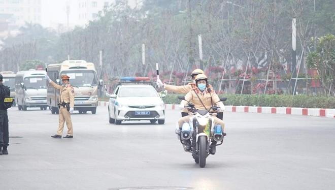 Cảnh sát giao thông Thủ đô tổng duyệt phương án đón, dẫn, đảm bảo an toàn giao thông phục vụ Đại hội Đảng ảnh 4
