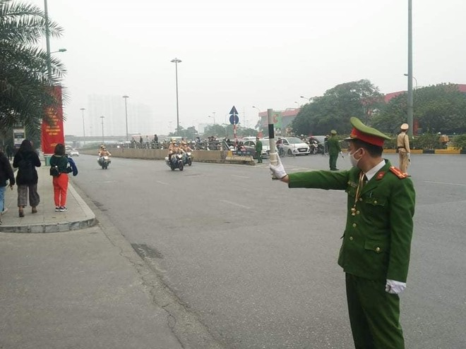 Cảnh sát giao thông Thủ đô tổng duyệt phương án đón, dẫn, đảm bảo an toàn giao thông phục vụ Đại hội Đảng ảnh 6