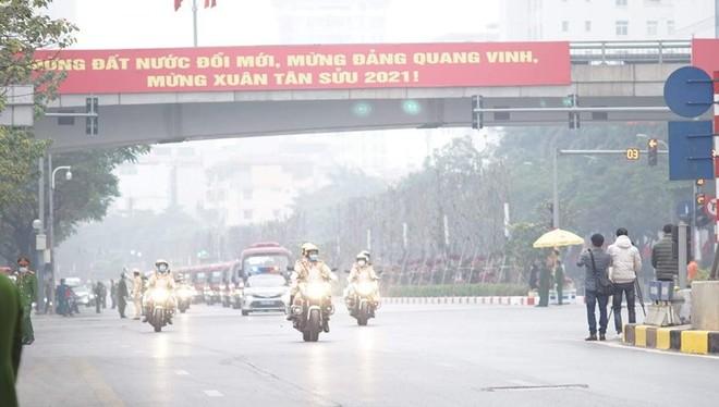 Cảnh sát giao thông Thủ đô tổng duyệt phương án đón, dẫn, đảm bảo an toàn giao thông phục vụ Đại hội Đảng ảnh 2