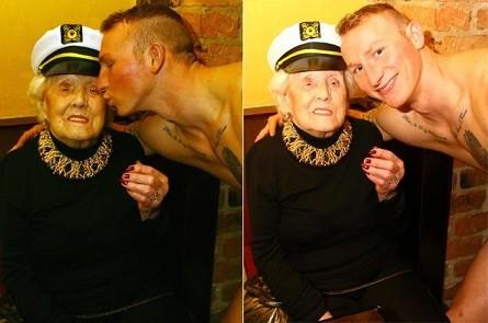 Mừng sinh nhật 100 tuổi, cụ bà thuê... vũ công nam nhảy thoát y ảnh 1