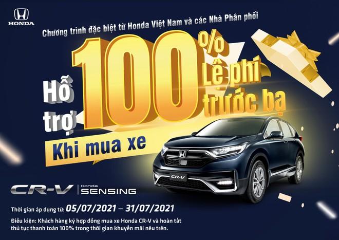 Honda Việt Nam tung gói hỗ trợ 100% lệ phí trước bạ trong tháng 7-2021 cho khách mua xe CR-V ảnh 1