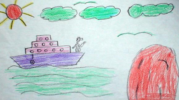 """Tranh học sinh tiểu học Quốc tế Thăng Long """"gửi các chiến sĩ canh giữ biển đảo quê hương"""" ảnh 6"""