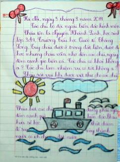 """Tranh học sinh tiểu học Quốc tế Thăng Long """"gửi các chiến sĩ canh giữ biển đảo quê hương"""" ảnh 10"""