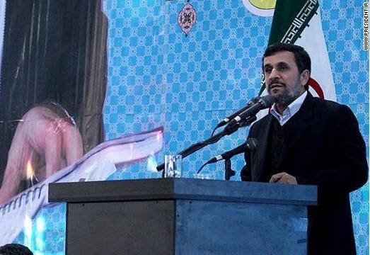 """Tổng thống Iran suýt dính """"giày bay"""" ảnh 1"""