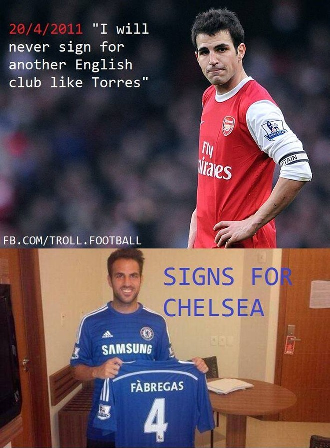 Fan Arsenal phẫn nộ trước thông tin Cesc Fabregas gia nhập Chelsea ảnh 4
