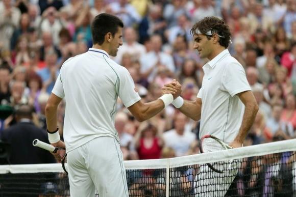 """Federer nhận những lời """"có cánh"""" từ Djokovic trước thềm chung kết Wimbledon 2014 ảnh 2"""