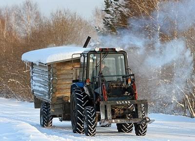 Xe xông hơi di động trong tuyết ảnh 5