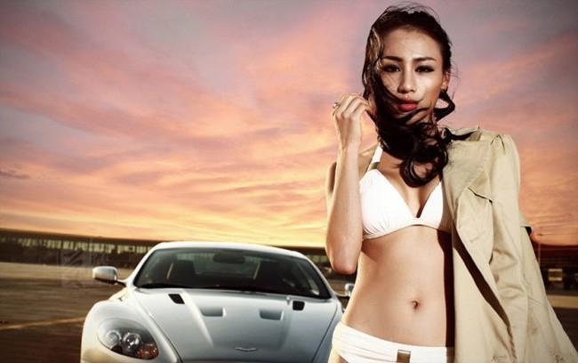 """Phát sốt vì người đẹp """"rực lửa"""" bên Aston Martin ảnh 9"""