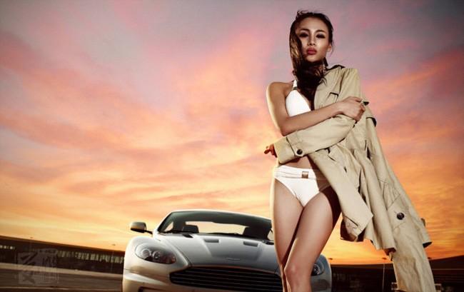 """Phát sốt vì người đẹp """"rực lửa"""" bên Aston Martin ảnh 13"""