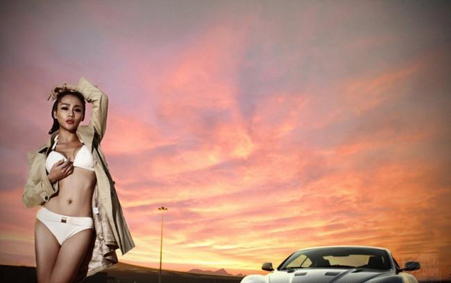 """Phát sốt vì người đẹp """"rực lửa"""" bên Aston Martin ảnh 14"""