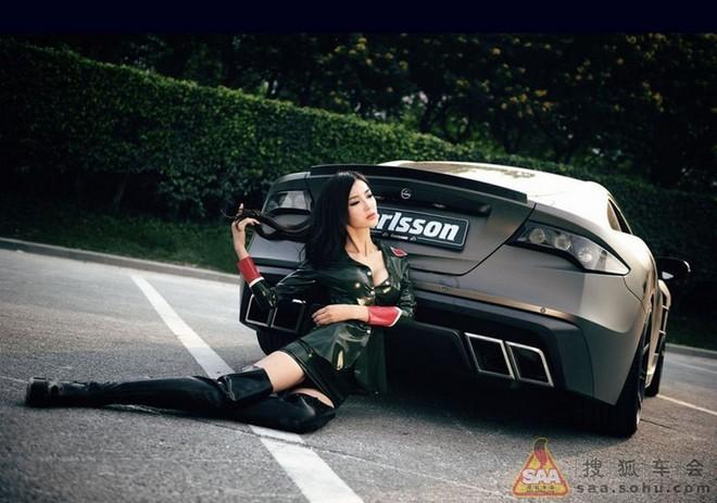 """Mỹ nữ châu Á """"lả lướt"""" bên siêu xe Carlsson C25 ảnh 14"""