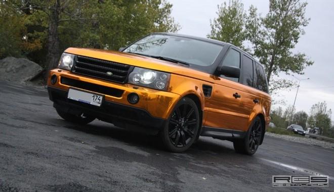 Ngắm Range Rover Sport mạ vàng sáng loáng ảnh 1