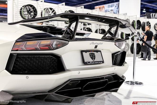 Chiêm ngưỡng Lamborghini Aventador trắng đẹp lóa mắt ảnh 10