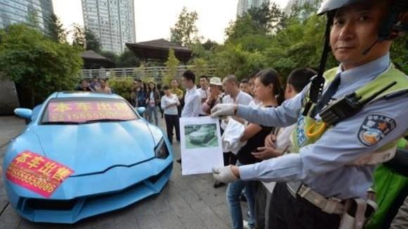 Cảnh sát Trung Quốc bắt được siêu xe Lamborghini hàng nhái ảnh 1