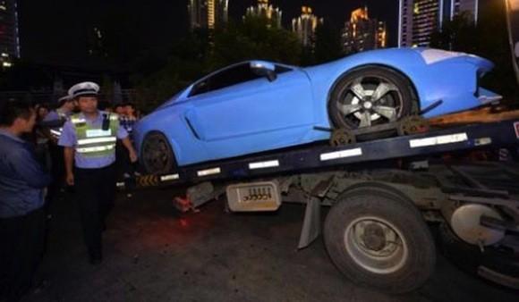 Cảnh sát Trung Quốc bắt được siêu xe Lamborghini hàng nhái ảnh 3
