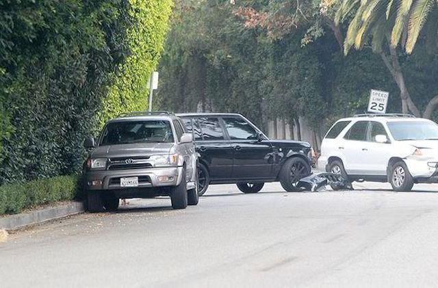 David Beckham lái Range Rover gây tai nạn ảnh 1