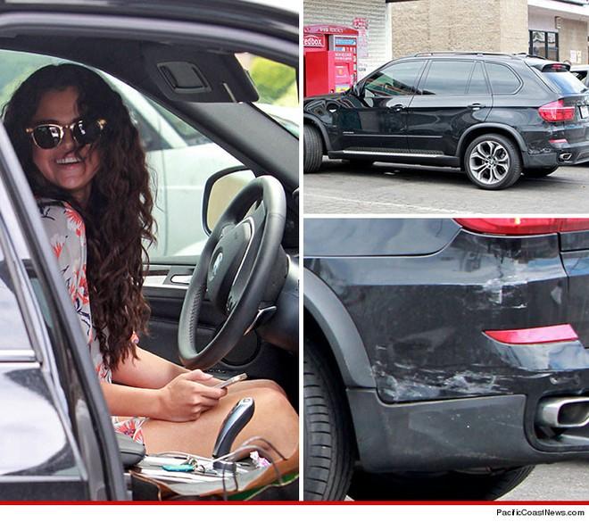 Selena Gomez không may đụng xe khi đang lái BMW X5 ảnh 1