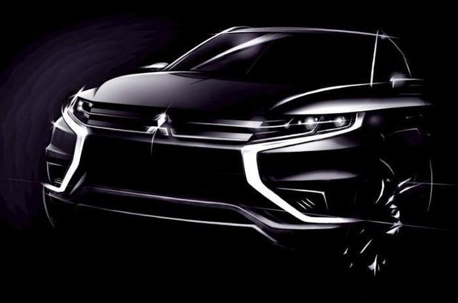 """Mitsubishi Outlander PHEV Concept-S lộ """"ảnh nóng"""" trước ngày ra mắt ảnh 1"""