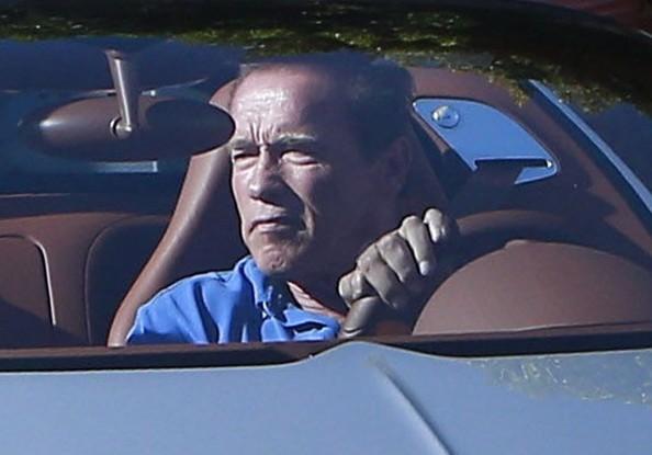 """Kẻ huỷ diệt"" Arnold Schwarzenegger vi vu cùng Bugatti Veyron ảnh 4"