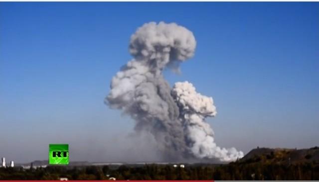 Pháo kích gây nổ lớn ở một nhà máy quân sự tại Donetsk ảnh 1