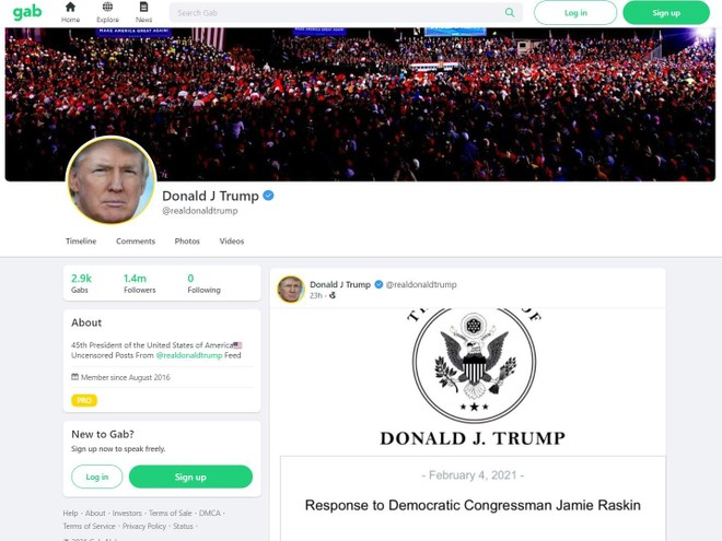 Ông Donald Trump tái xuất trên mạng xã hội ảnh 1