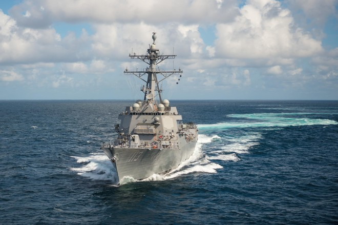 Hải quân Mỹ triển khai tàu USS John Finn qua eo biển Đài Loan ảnh 1