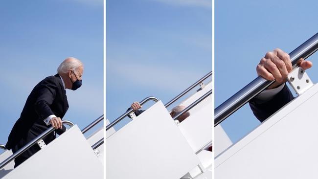 [VIDEO] Ông Joe Biden vẫn khỏe sau khi bị ngã hai lần lúc lên Air Force One ảnh 1
