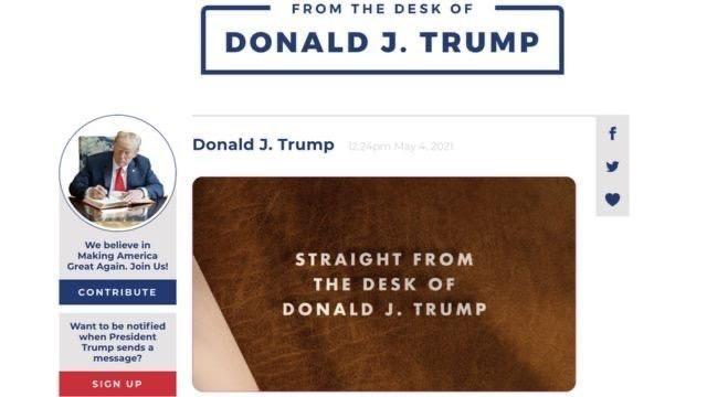Ông Donald Trump trở lại nền tảng trực tuyến ảnh 1