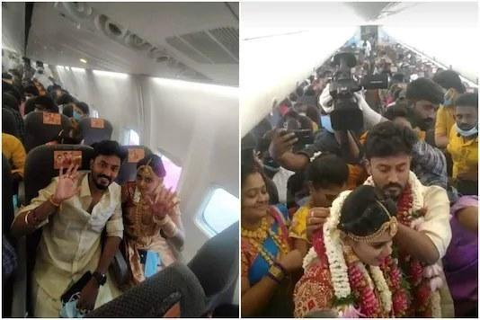Lách luật giãn cách vì Covid-19, cặp đôi Ấn Độ tổ chức đám cưới trên trời ảnh 1