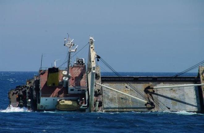 Tàu chở hàng của Triều Tiên bị chìm ngoài biển Nhật Bản ảnh 1