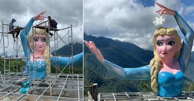 """Tạm dừng hoạt động cơ sở có bức tượng """"Nữ hoàng băng giá Elsa"""" tại Sa Pa gây tranh cãi ảnh 2"""