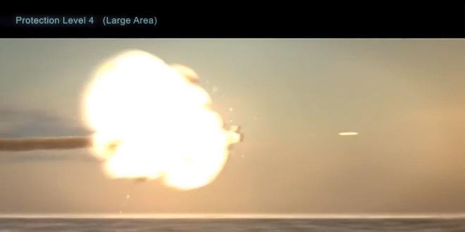Quả tên lửa cuối cùng bị pháo hạm tiêu diệt.