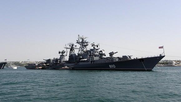Chiến hạm khủng của Nga và Italia diễn tập tại Địa Trung Hải ảnh 1