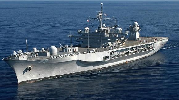 Tàu chỉ huy Hạm đội 6 của Mỹ đến Gruzia diễn tập ảnh 1