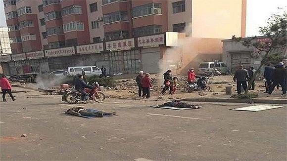 Hình ảnh vụ nổ như bị ném bom rải thảm ở Thanh Đảo - Trung Quốc ảnh 4