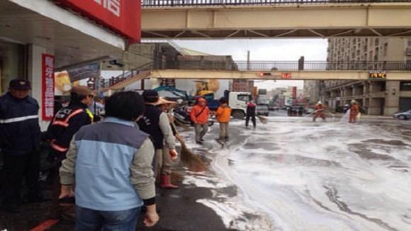 Đài Loan vỡ đường ống dẫn dầu quân sự, tràn 75.000 lít dầu ảnh 1