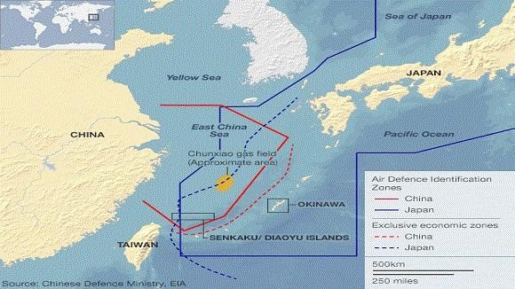"""2 tiêm kích Trung Quốc """"hộ tống"""" 12 máy bay Mỹ, Nhật ảnh 2"""