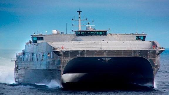 Mỹ hạ thủy siêu tàu vận tải cao tốc 2 thân JHSV ảnh 1