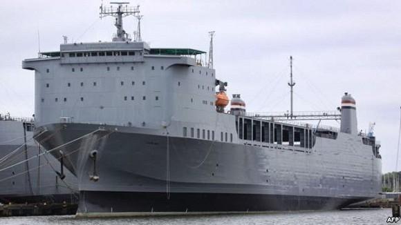 Mỹ đưa siêu tàu vận tải sang hủy vũ khí hóa học Syria ảnh 1