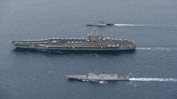 """Nhật muốn cùng Mỹ, Ấn Độ tổ chức diễn tập Malabar """"hợp vây"""" Trung Quốc ảnh 1"""