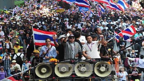 Thái Lan: 89 khu vực bầu cử sớm bị người biểu tình phong tỏa ảnh 1